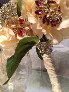 Sangria Sparkle Brooch Bouquet