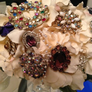 Sangria Sparkle Brooch Bouquet 3